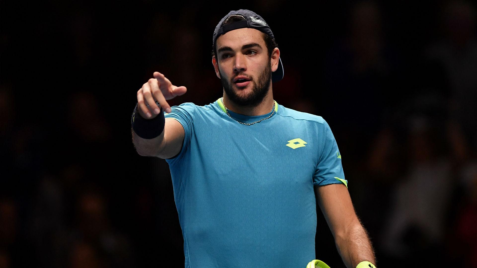 Matteo Berrettini will play the Ultimate Tennis SHowdown