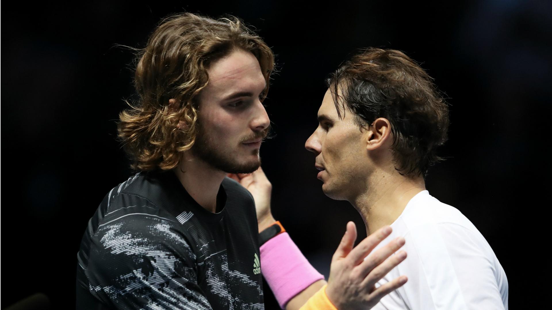 Stefanos Tsitsipas and Rafael Nadal - cropped