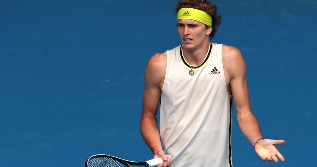 Alexander Zverev, Open d'Australie 2021, 1er tour