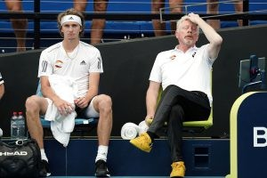 Alexander Zverev and Boris Becker worrying for Team Germany at the ATP Cup