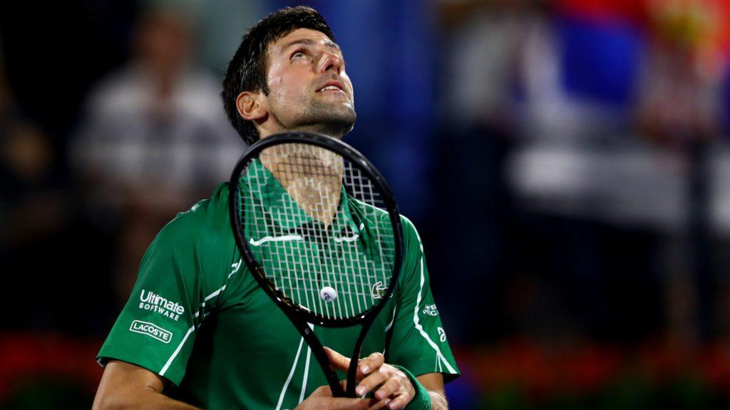 Novak Djokovic with his Head racquet