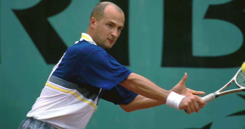 Andreï Medvedev during the 2000 French Open