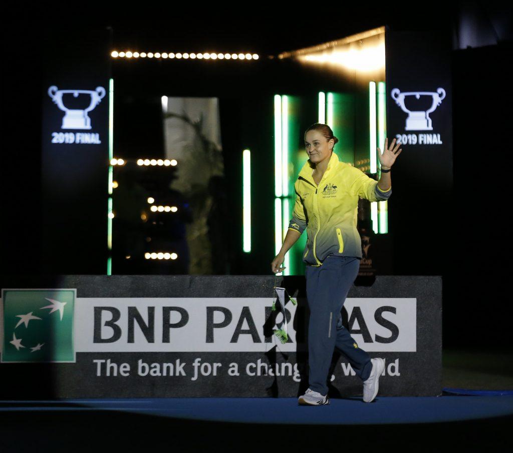 Ashleigh Barty représentant l'Australie en finale de la Fed Cup 2019.