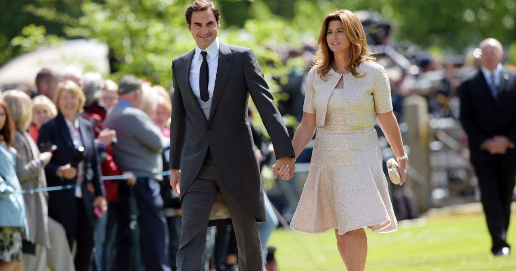 Roger Federer with his wife Mirka
