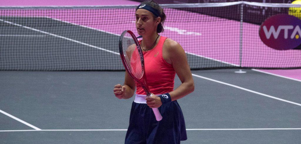 Caroline Garcia during Lyon's tournament