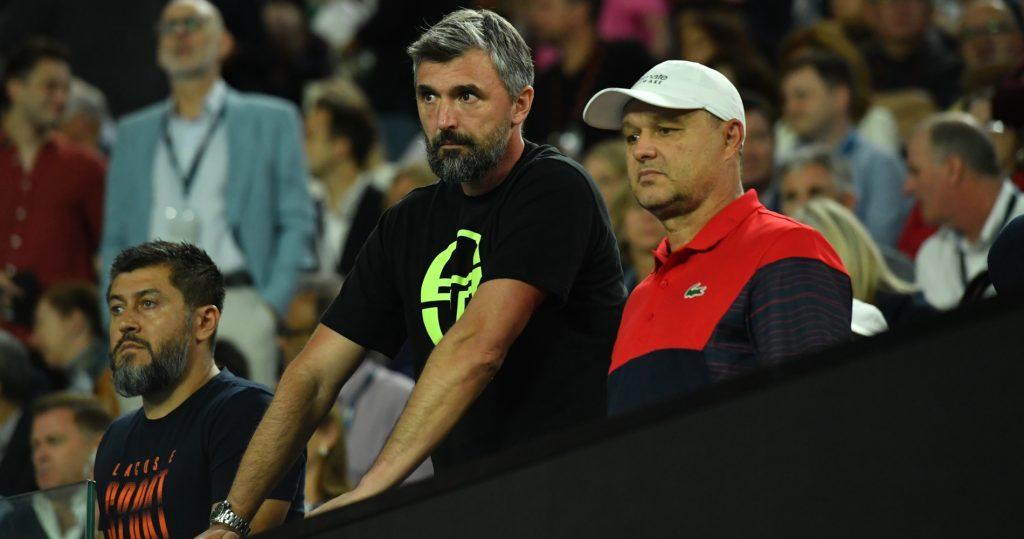 Goran Ivanisevic and Marian Vajda, Novak Djokovic's coaches