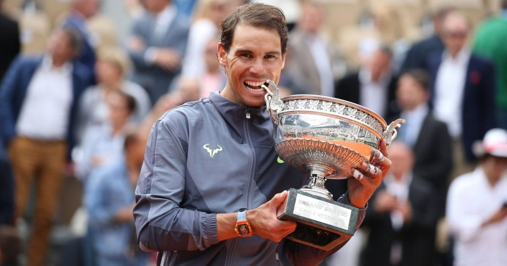 Rafael Nadal after his 2019 French Open victory