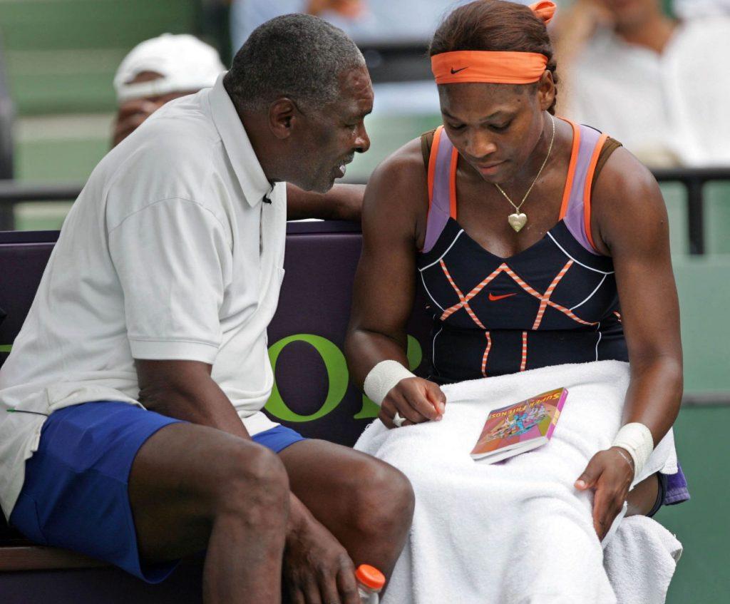 Richard Williams with Serena.