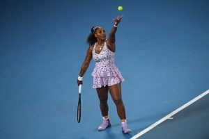 Serena Williams during the 2020 Australian Open