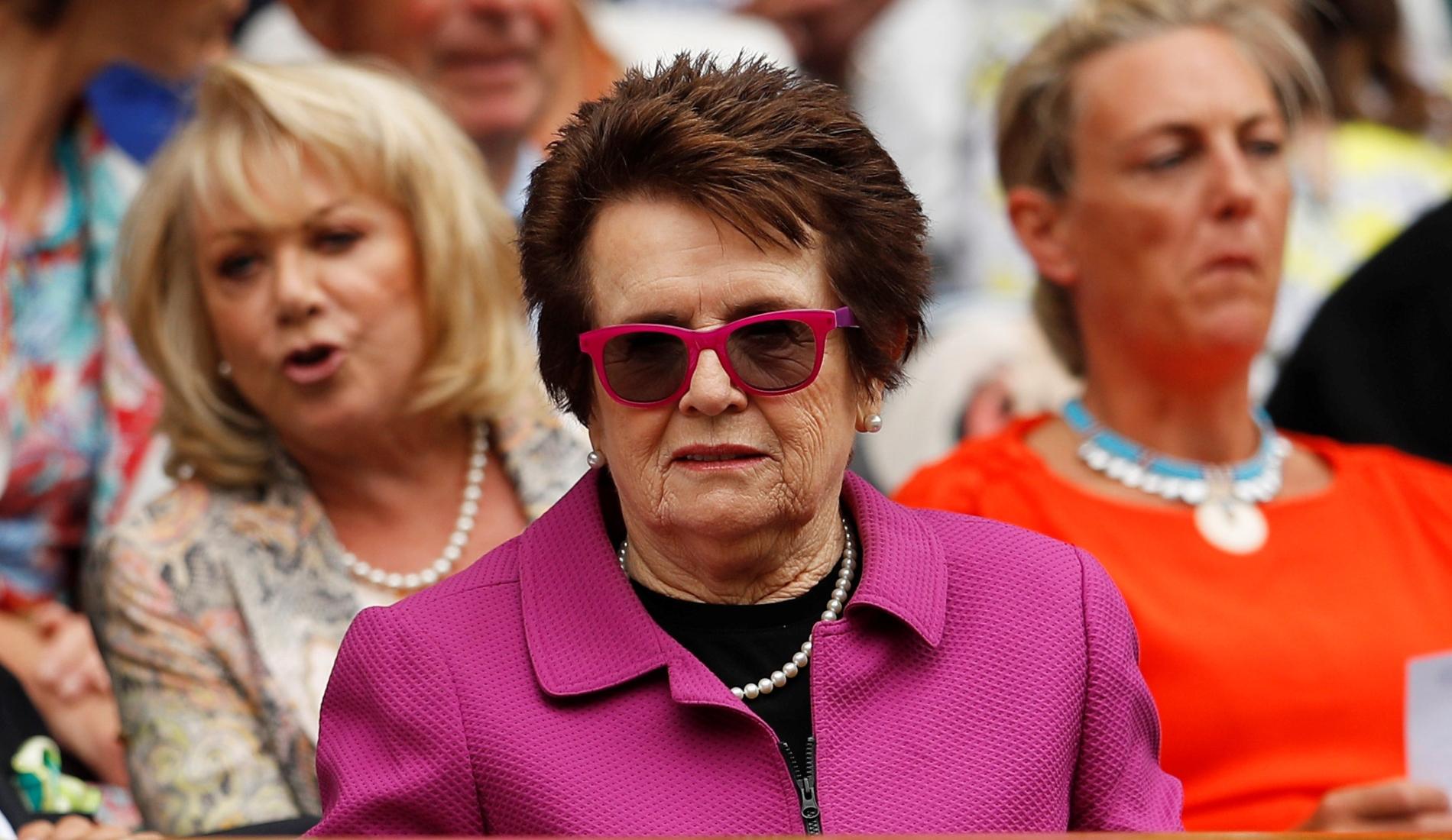 Billie Jean King at Wimbledon in 2018
