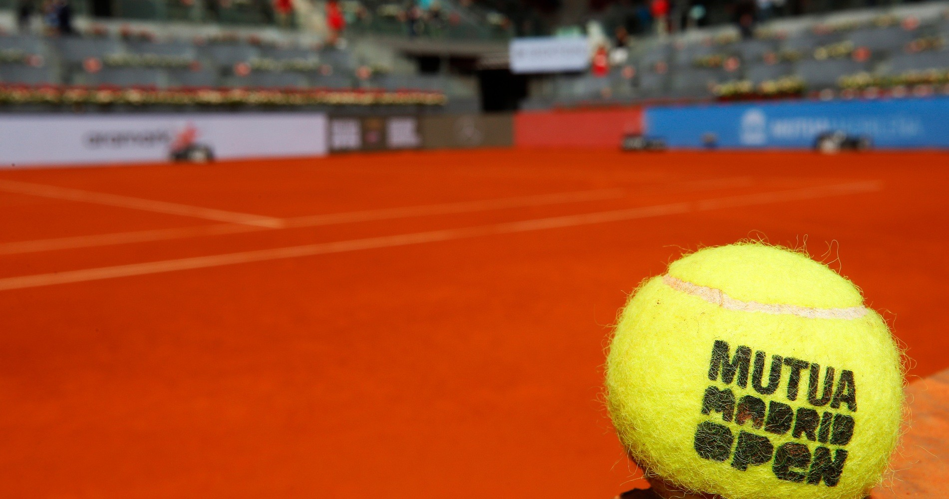 Official ball of Mutua Madrid Open at La Caja Magica on May 07, 2019