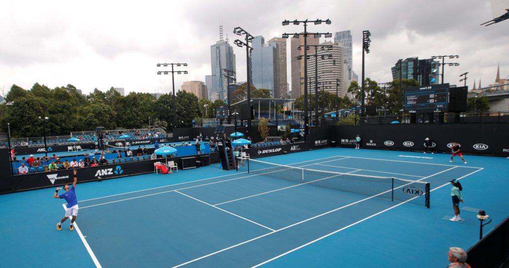 A court at Melbourne Park