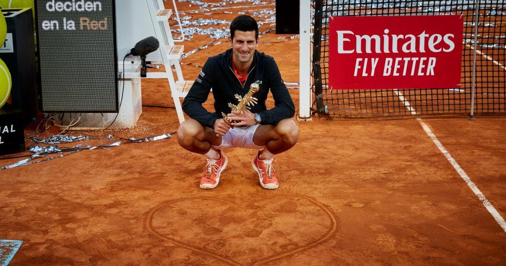 Novak Djokovic won the Madrid Masters 1000 in 2019.