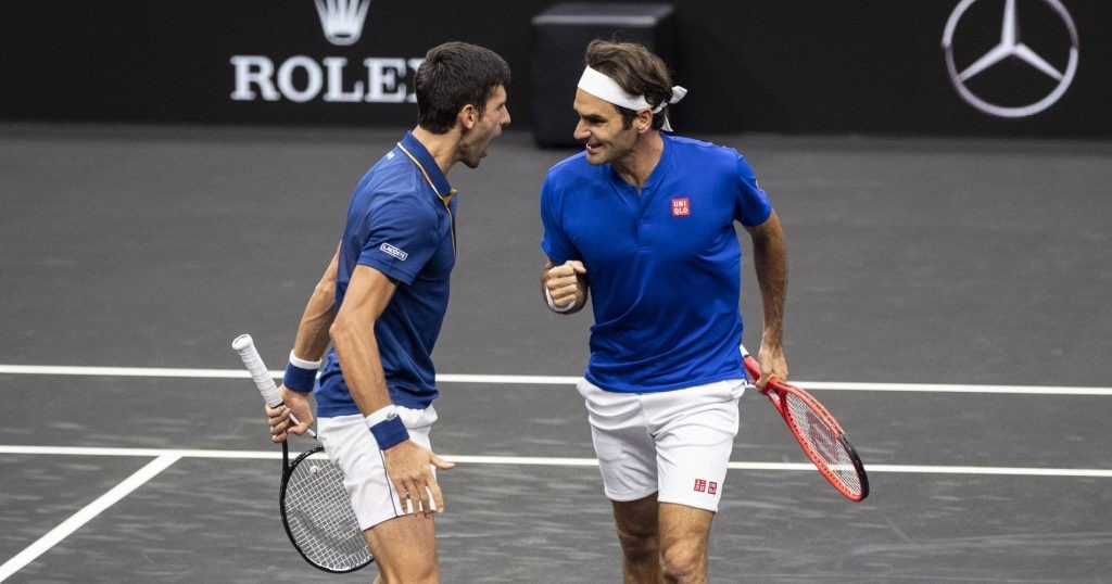 Federer and Djokovic played double together during the 2018 Laver Cup