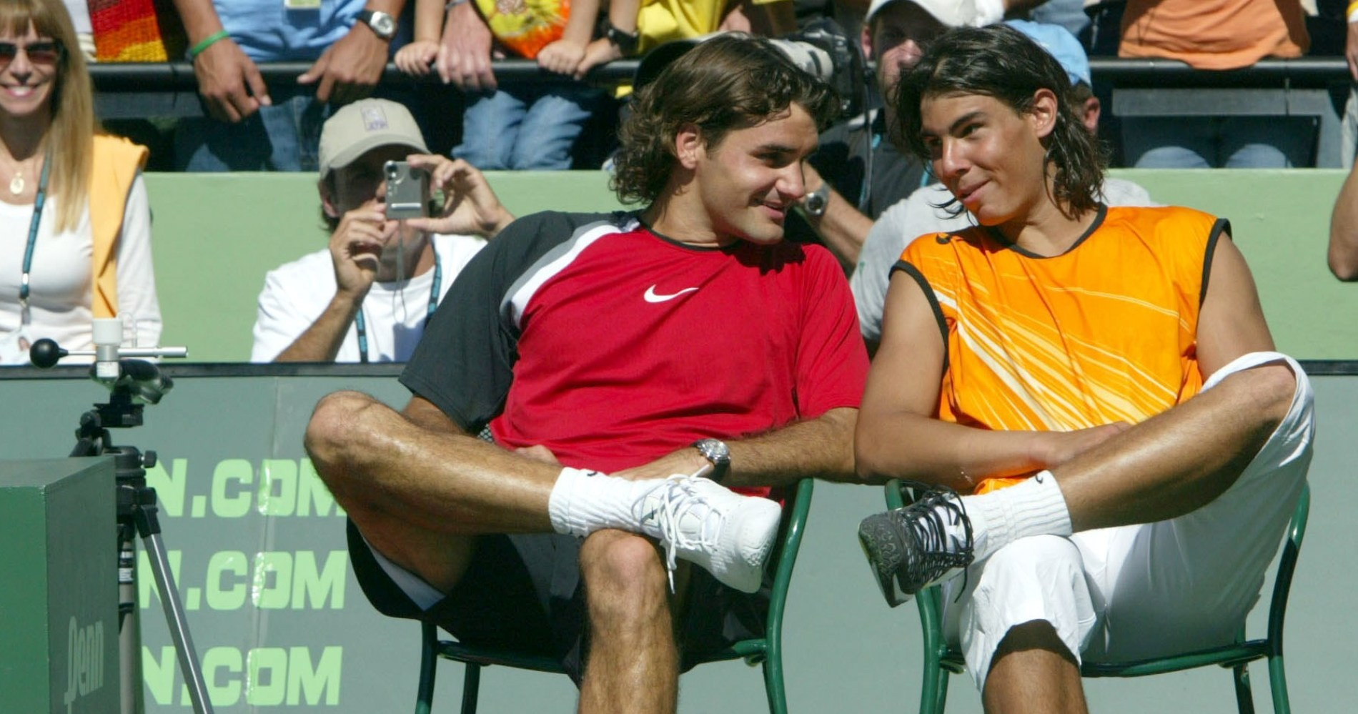 Federer and Nadal in Miami in 2005