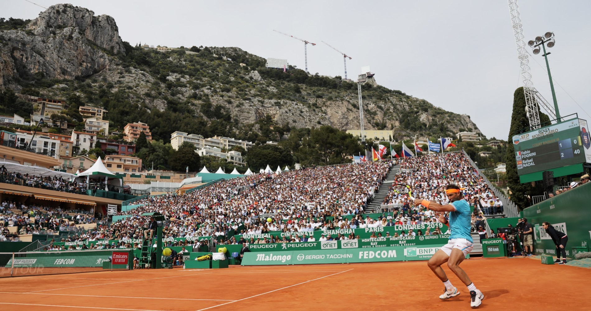 Rafael Nadal in action in Monte Carlo