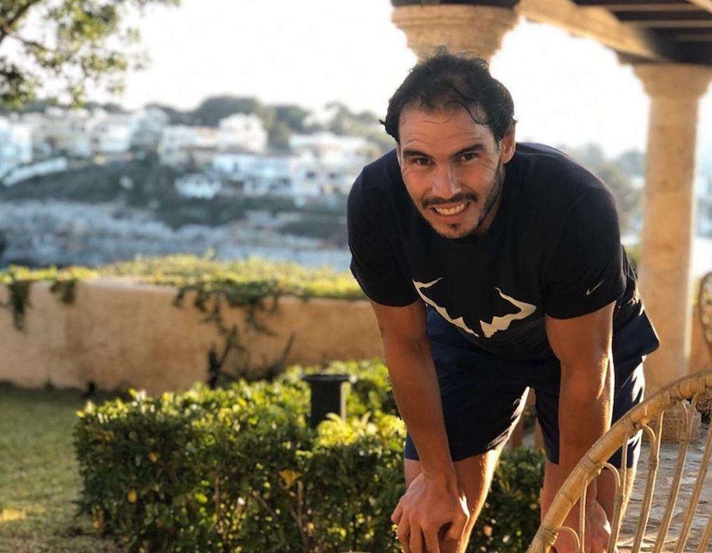 Rafael Nadal confined in Spain, April 2020