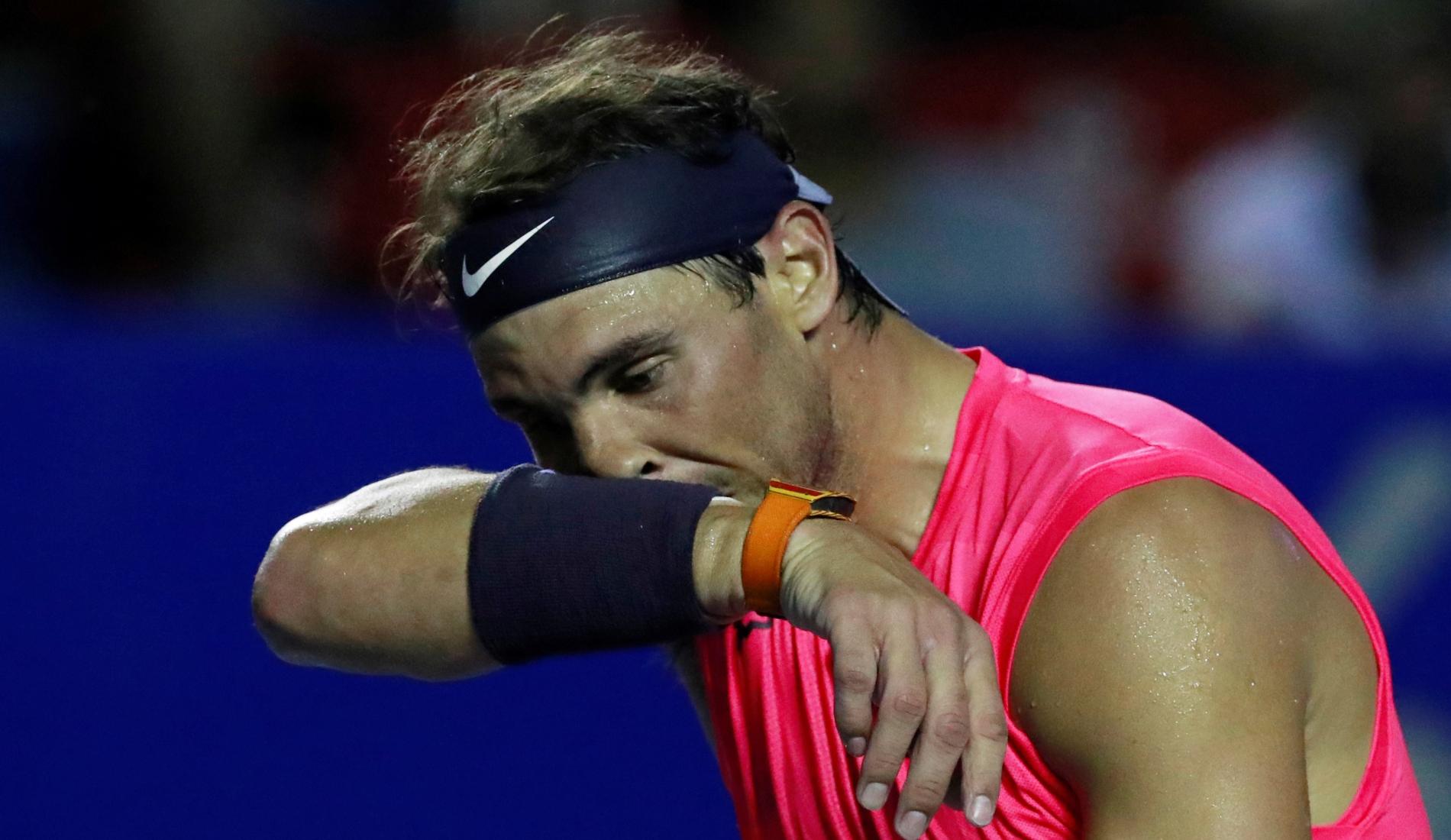 Rafael Nadal at the 2020 Acapulco tournament