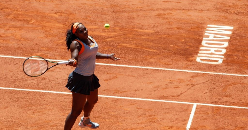 Serena Williams from USA during her Madrid Open tennis tournament match against Victoria Azarenka from Belorussia in Madrid, Spain. May 06, 2015. (ALTERPHOTOS/Victor Blanco)