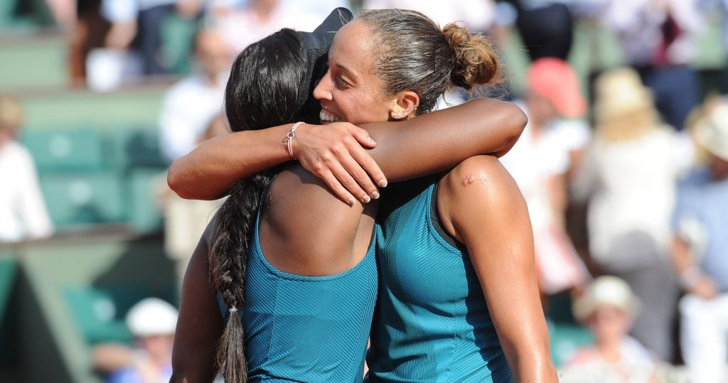 Sloane Stephens and Madison Keys during 2018 French Open