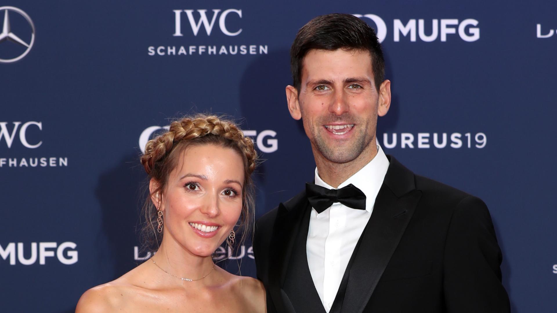 Jelena and Novak Djokovic - cropped