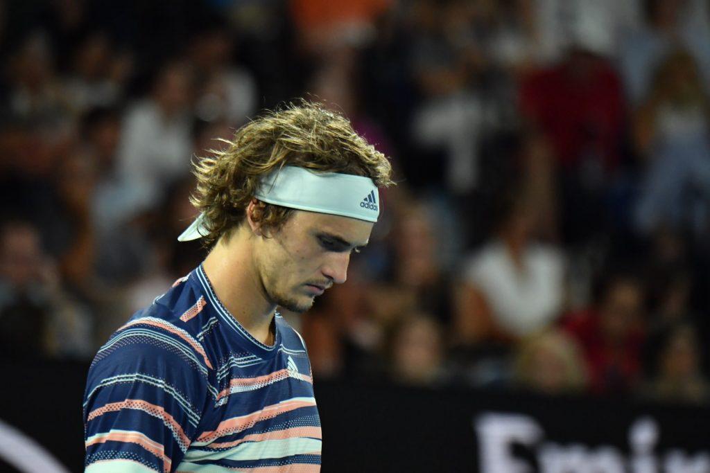 Alexander Zverev during the Australian Open 2020