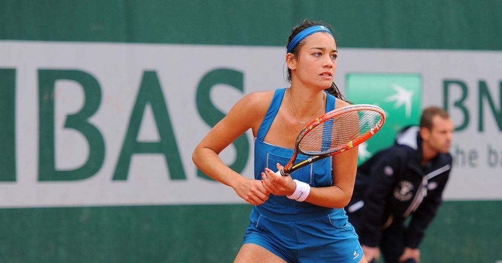 Alizé Lim is interviewing players for Tennis Majors in Major talk