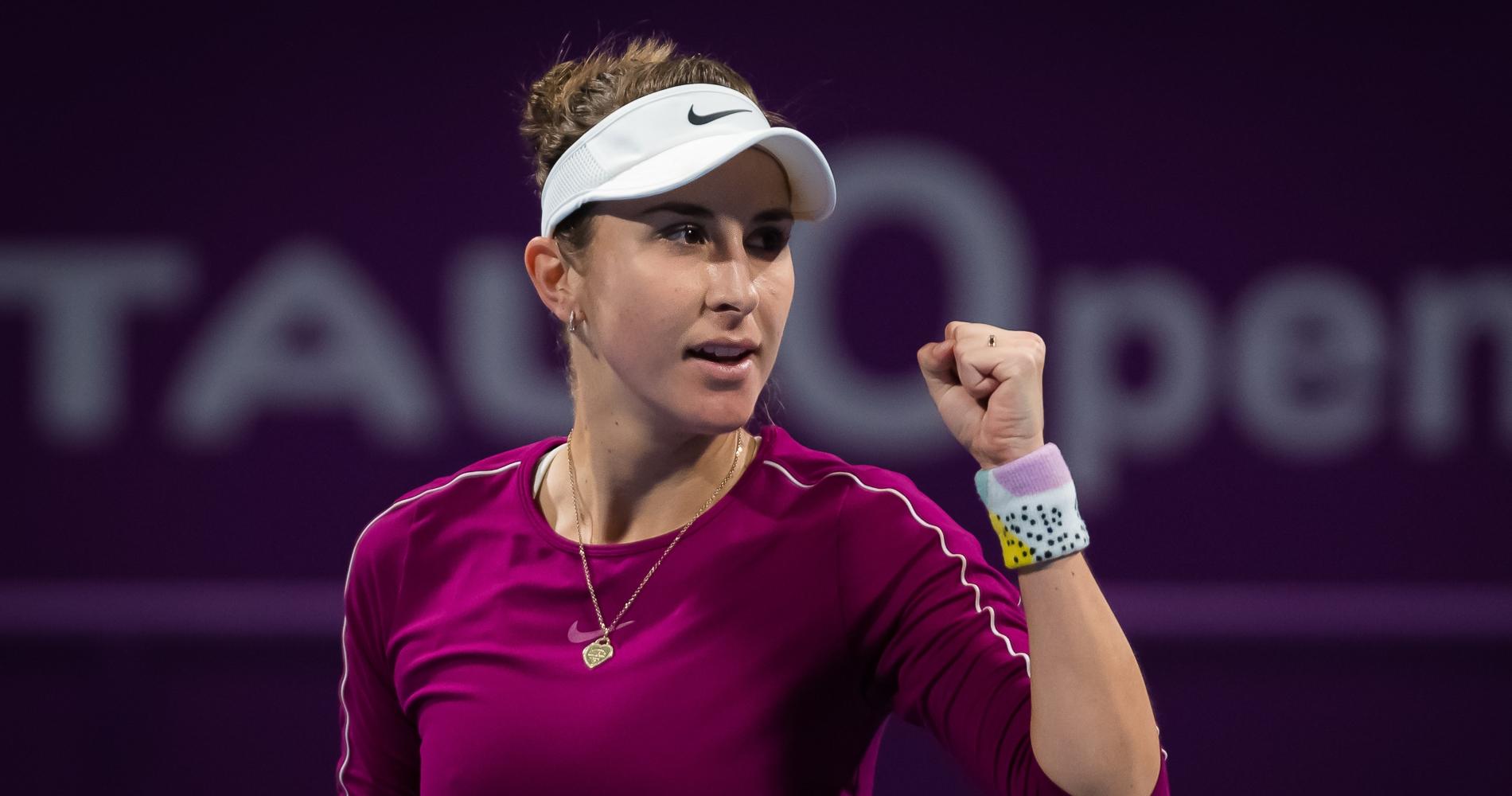 Belinda Bencic in Doha (2020)