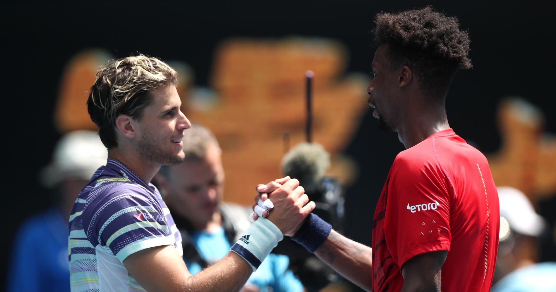 Dominic Thiem and Gaël Monfils, 2020 Australian Open
