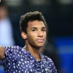 Félix Auger-Aliassime, at Montpellier in 2020
