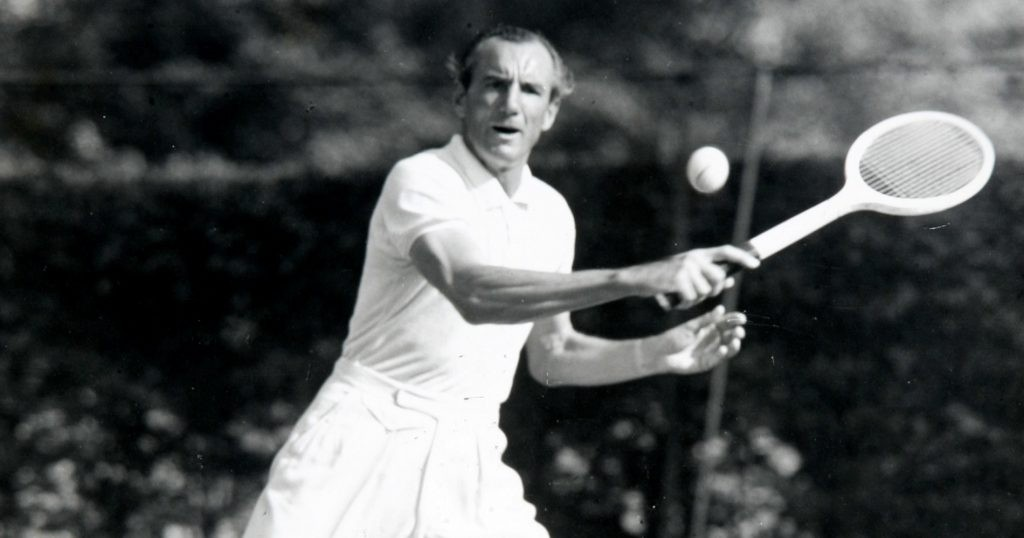 Fred Perry at Wimbledon in 1936