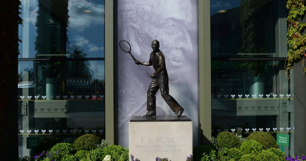 Fred Perry has a statue at Wimbledon
