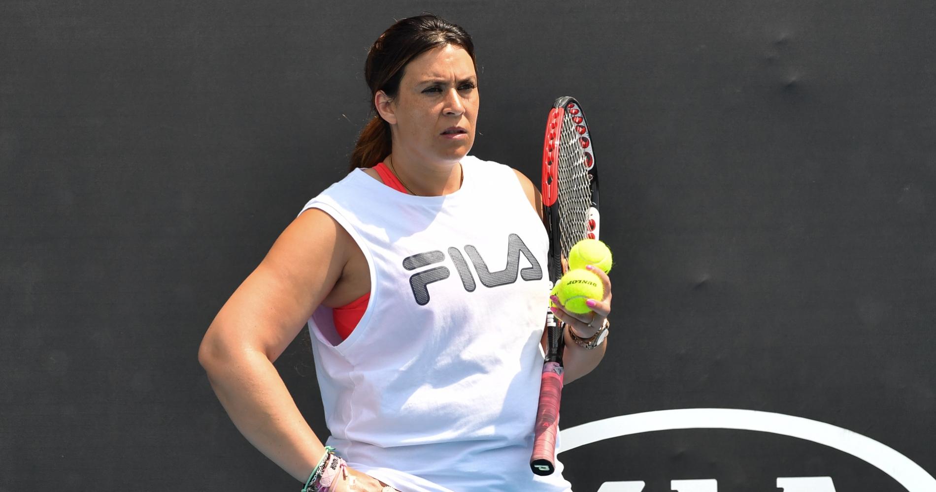 Marion Bartoli, Jelena Ostapenko's coach during 2020 Australian Open