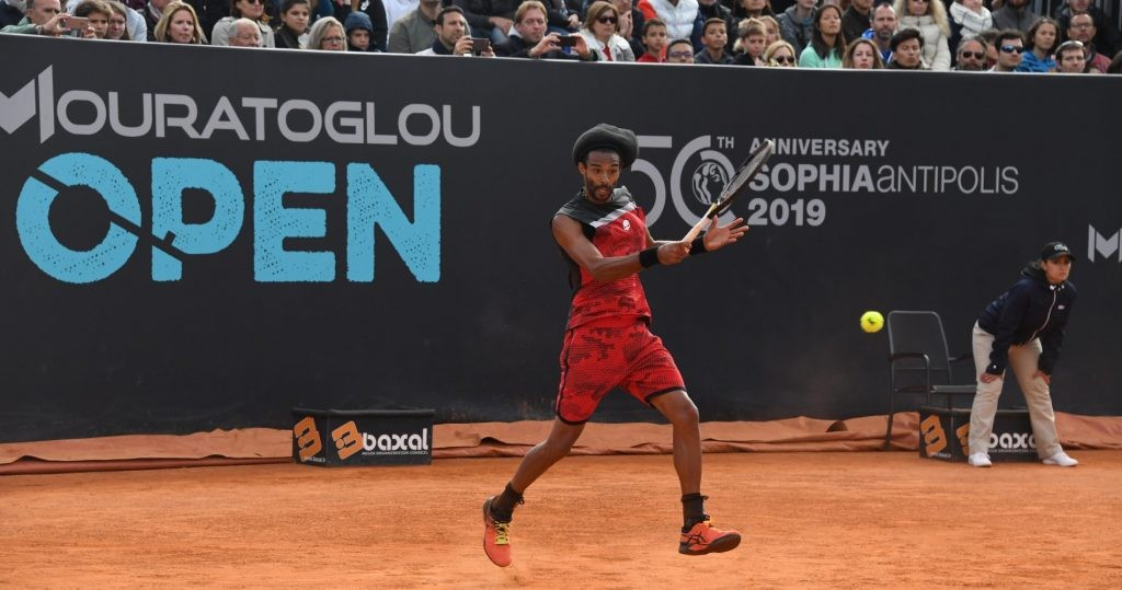 Dustin Brown at the Mouratoglou Open in 2019
