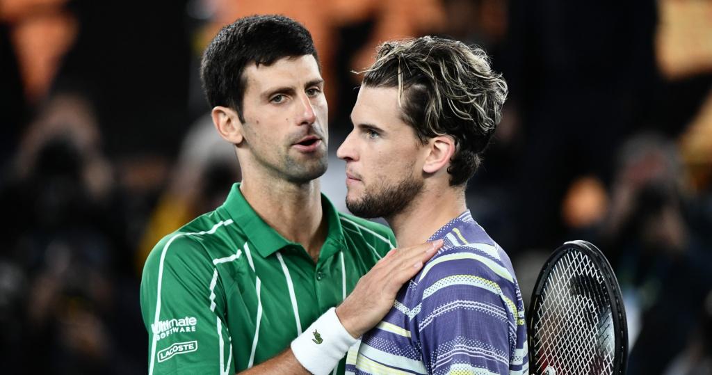 Novak Djokovic and Dominic Thiem, 2020 Australian Open final