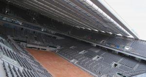 Roland-Garros avec le nouveau toit du court Philippe-Chatrier, qui doit être inauguré en 2020