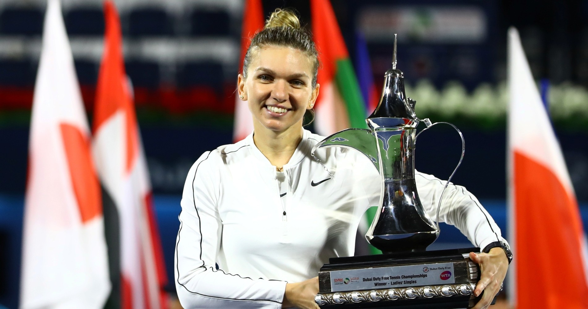 Simona Halep, 2020 Dubai champion