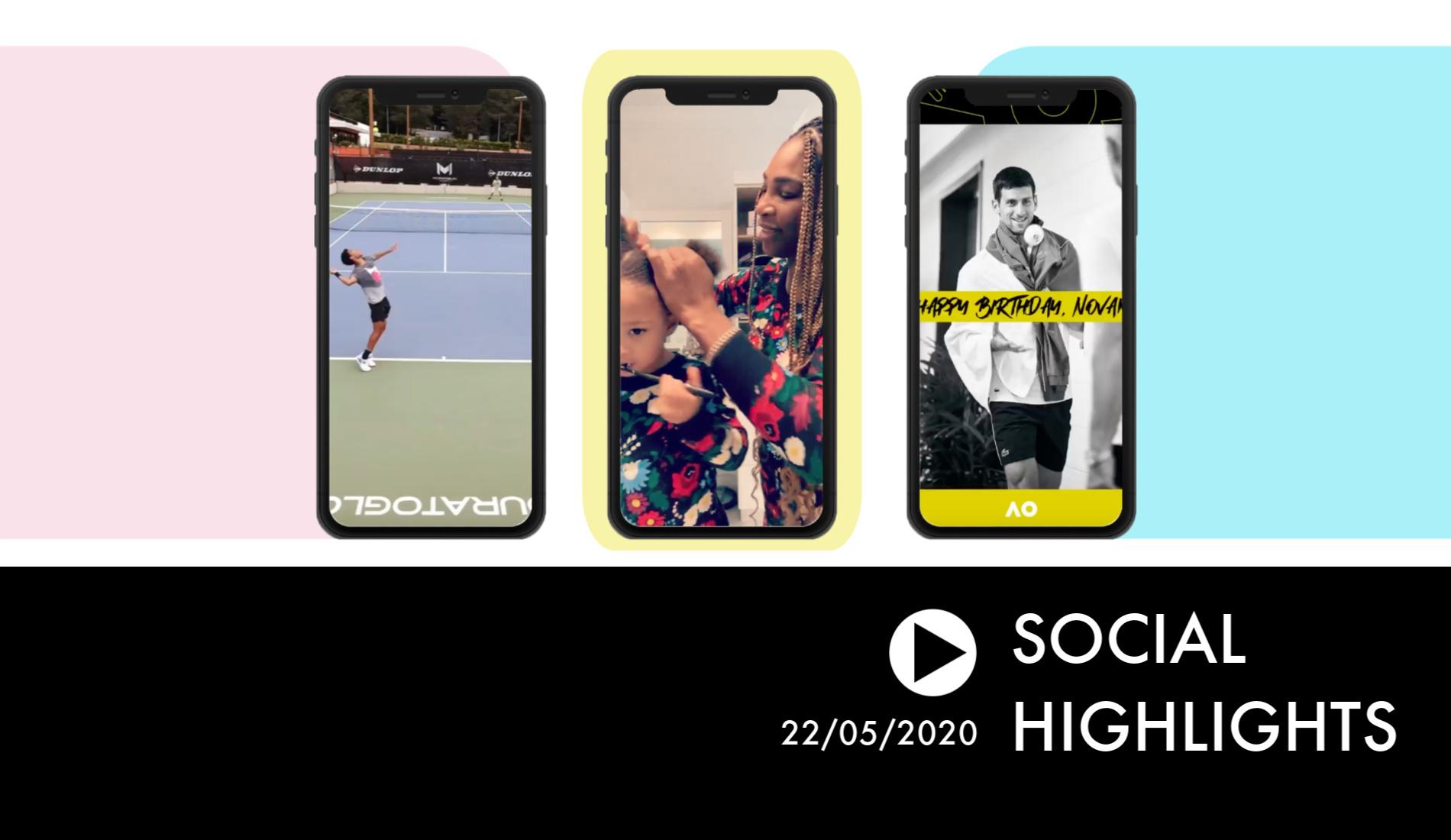 Social Highlights - Tsitsipas Auger-Aliassime