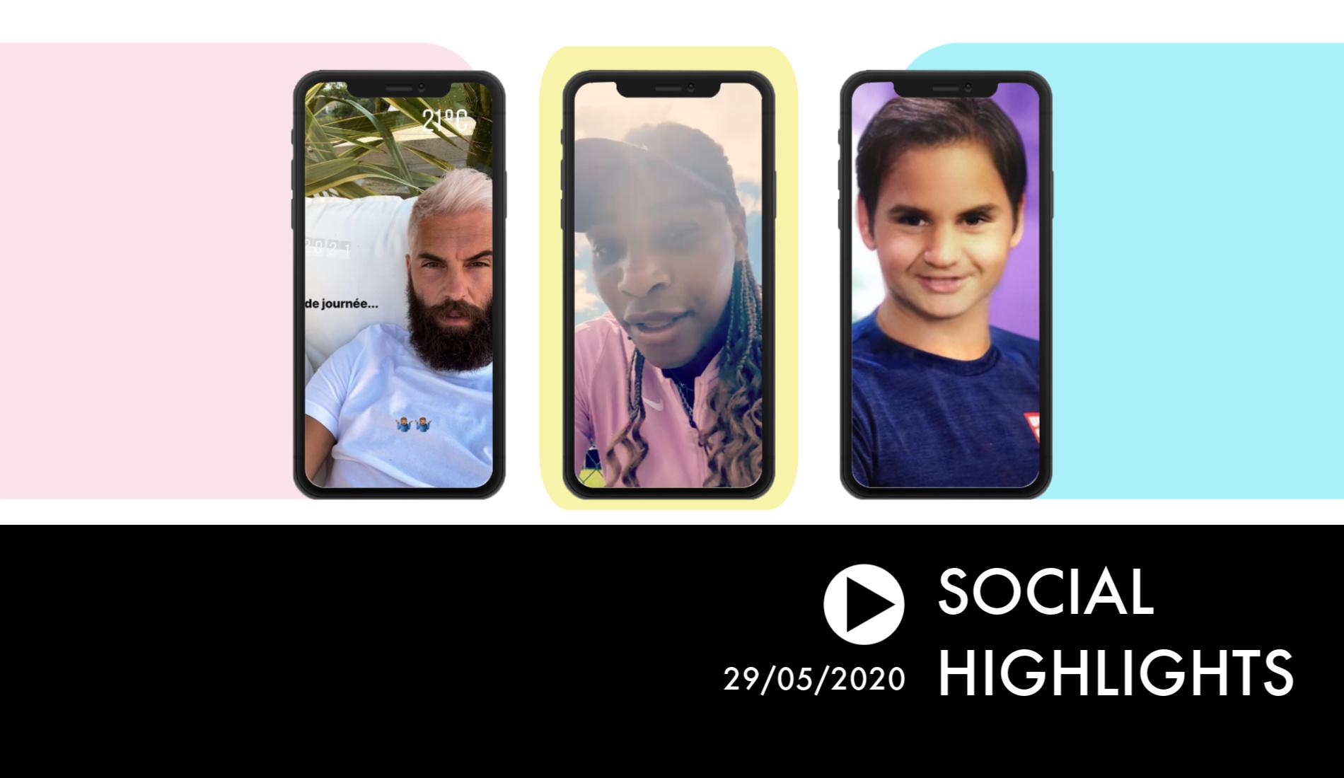 Nouvelle couleur de cheveux pour Benoit Paire - Social Highlights 29.05.20