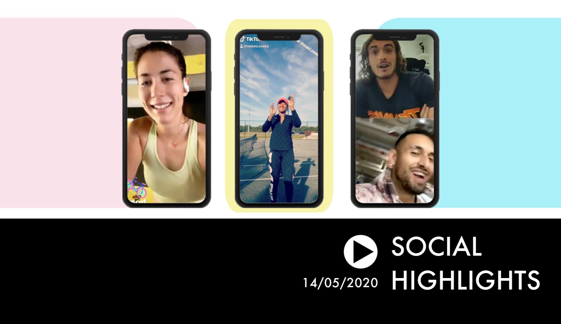 Social Highlights - Muguruza and Osaka with some musical vibes