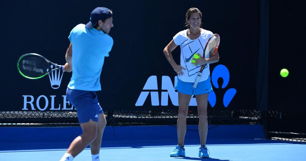 Amélie Mauresmo is Lucas Pouille's coach since 2019