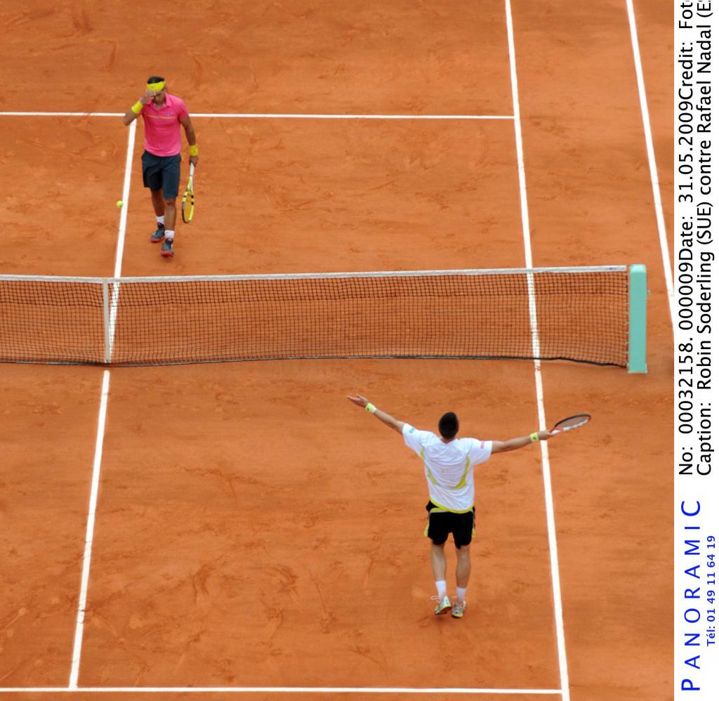 Robin Soderling and Rafael Nadal