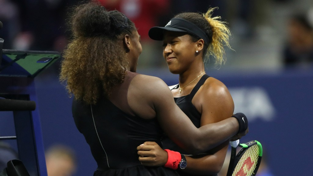 Serena Williams and Naomi Osaka at the 2018 US Open 09082018