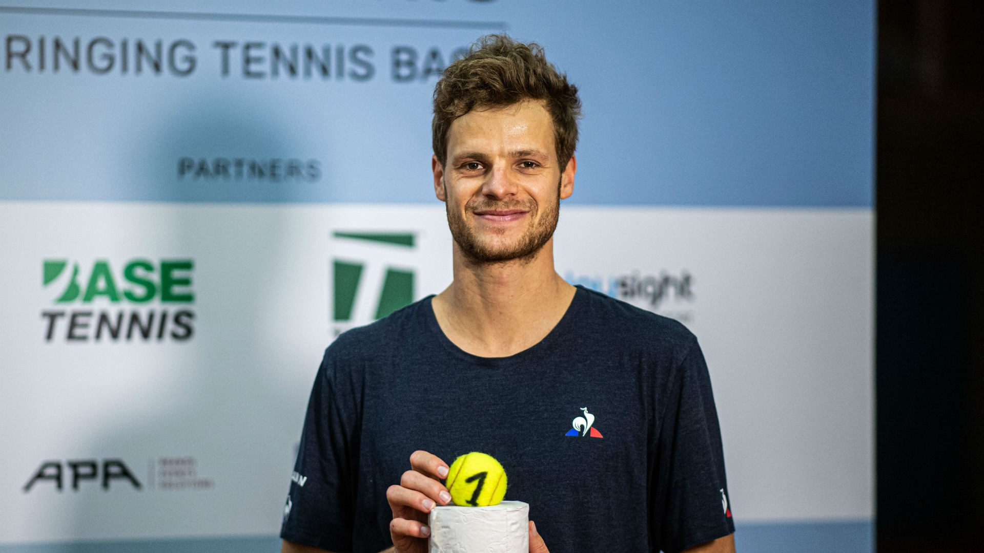 Yannick Hanfmann won the first edition of the Tennis Point Exo-Tennis exhibition in Germany.