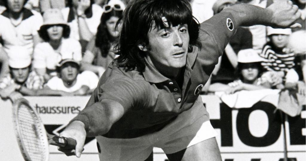 Adriano Panatta at Roland Garros in 1976