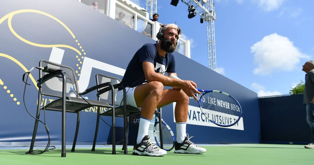 Benoît Paire at the Mouratoglou Academy preparing for the UTS