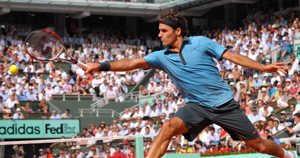 Federer at Roland Garros in 2009