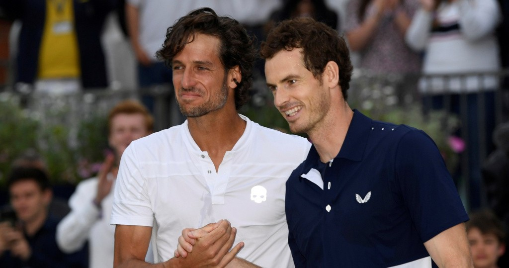 Feliciano Lopez and Andy Murray, Queen's, 2019