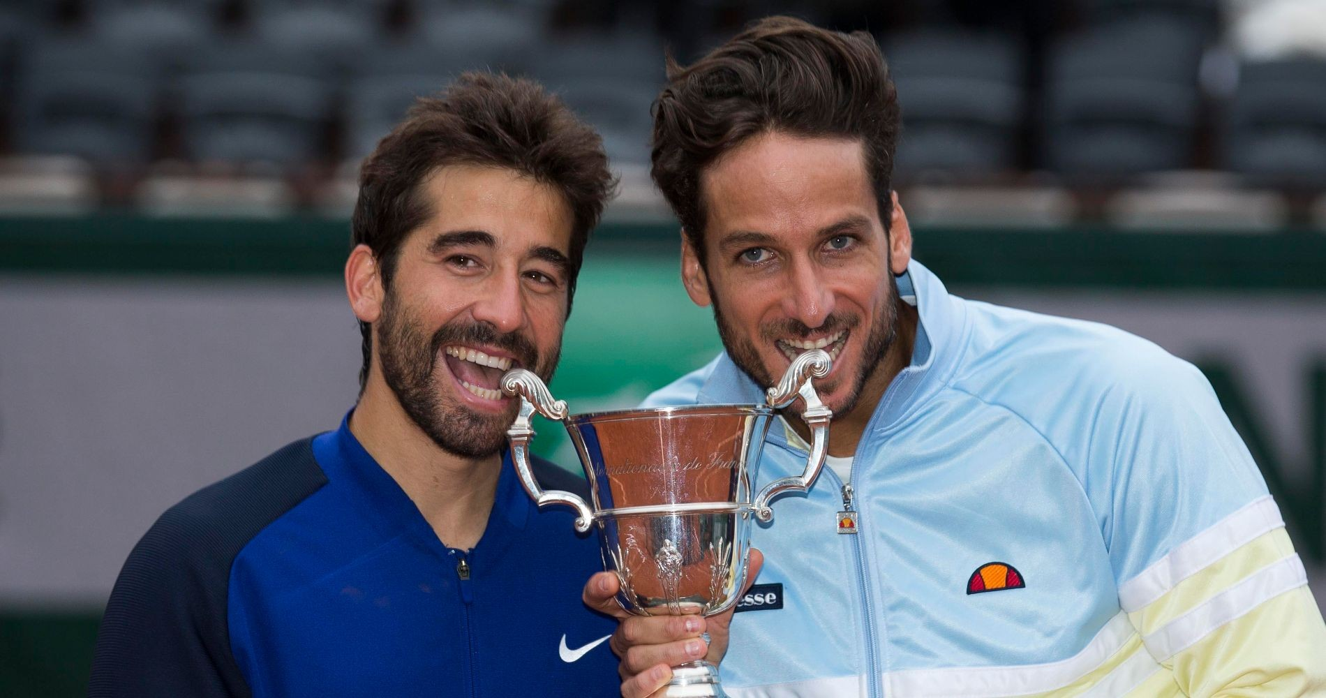Feliciano Lopez and Marc Lopez, 2016 French Open doubles winners