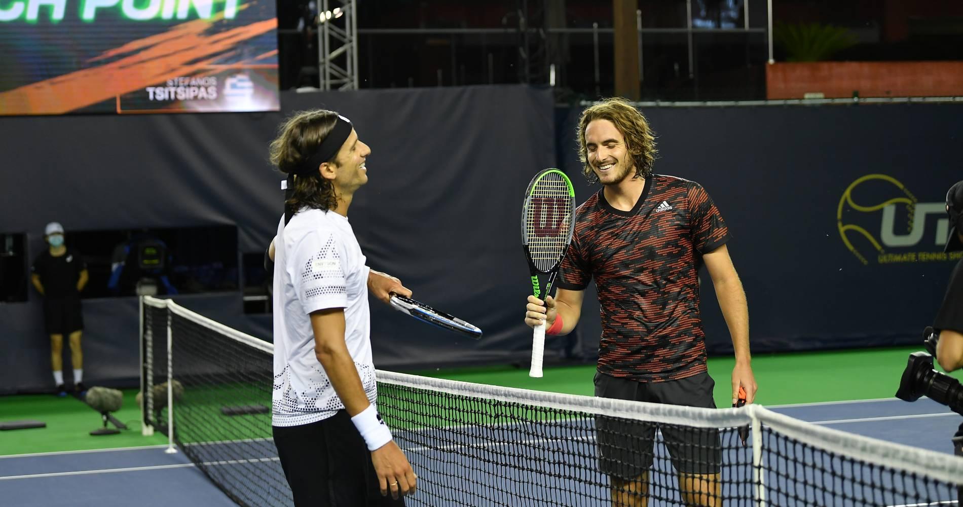 Feliciano Lopez and Stefanos Tsitsipas, UTS 2020